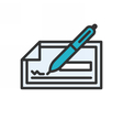 Check outline icon vector image