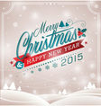 Christmas design with typographic design vector image vector image
