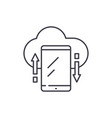 cloud storage line icon concept cloud storage vector image vector image