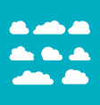 clouds silhouettes set clouds shapes vector image