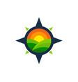 compass farm logo icon design vector image vector image