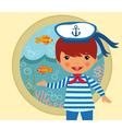 Cute sailor vector image