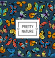 Decorative butterflies pattern colored