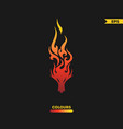 dragon on fire tattoo vector image