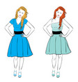 dress for pear body type vector image vector image