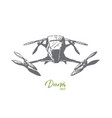 drone equipment air fly technology concept vector image vector image
