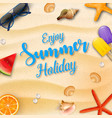 enjoy summer holidays background and beach element vector image vector image