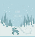 fairy reindeer in the forest elements for vector image vector image