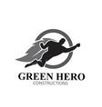 green hero leaf logo designs simple modern vector image vector image