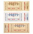 grunge party invites vector image
