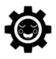 happy gear kawaii icon image vector image vector image