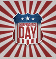 happy independence day american banner vector image vector image