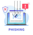 internet phishing stealing credit card data vector image