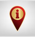 map pointer with information sign red vector image vector image