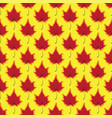 maple leaves seamless red yellow art vector image vector image