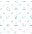 mother icons pattern seamless white background vector image vector image
