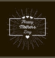 mother39s day on a black background vector image vector image