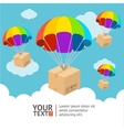 parachute delivery card vector image vector image