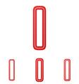 Red letter i logo design set vector image vector image