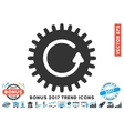 Rotate Cog Flat Icon With 2017 Bonus Trend vector image vector image