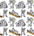 seamless koala vector image