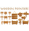 set different wooden empty cartoon pointers vector image vector image
