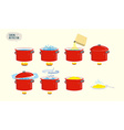 Set icons for instruction Infographics Cooking vector image vector image