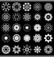 set of different tribal rosette vector image vector image