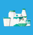 sour milk products set vector image vector image