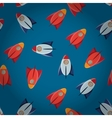 Space toy rocket abstract seamless pattern vector image vector image