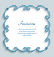 square frame with swirly paper border vector image vector image