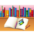 Study book stationery vector image vector image