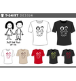 t shirt with couple vector image
