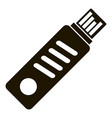 usb flash icon simple style vector image vector image