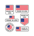 various made in usa labels set american product vector image vector image