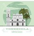 Venezuela landmarks Retro styled image vector image vector image