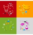 Veterinary sticker infographic vector image vector image