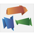web banners in origami style for web design vector image vector image