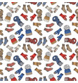 winter season doodle clothes seamless pattern vector image