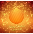 Christmas Ball Blurred Festive Background Merry vector image