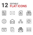 12 letter icons vector image vector image