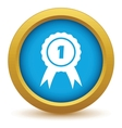 1st place icon vector image