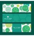 abstract green circles horizontal banners vector image