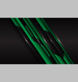 abstract green metallic circuit line slash black vector image vector image