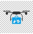 Airdrone Pharmacy Delivery Icon vector image vector image