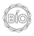 Bio label icon in outline style isolated on white vector image vector image