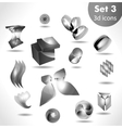 black white icon set vector image
