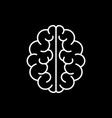 brain icon mind symbol vector image vector image