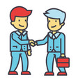 businessmen handshaking business partnership vector image
