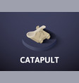 catapult isometric icon isolated on color vector image vector image